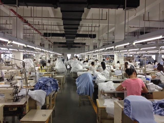 上海縫製工場