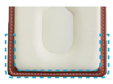 横山ランドセルの背中側の下部の補強